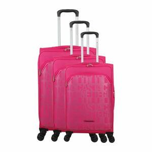 Sada 3 zavazadel v odstínu magenta na 4 kolečkách Lulucastagnette Bellatrice