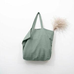 Zelená lněná nákupní taška Linen Tales