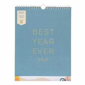 Nástěnný modrý kalendář Busy B, 13 stran