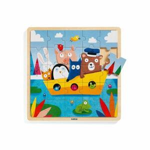 Dřevěné puzzle Djeco Loďka