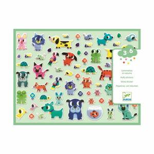 Set plastických samolepek Djeco Zvířecí kamarádi