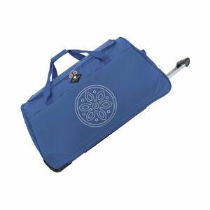 Modrá cestovní taška na kolečkách GERARD PASQUIER Miretto, 91 l