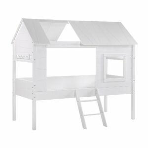 Bílá dětská domečková postel Vipack Charlotte