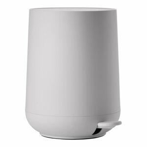 Světle šedý koupelnový pedálový koš Zone Nova,3l