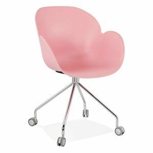 Růžová kancelářská židle Kokoon Rulio