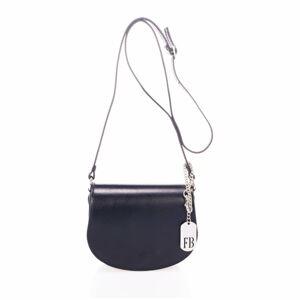 Černá kabelka z pravé kůže Federica Bassi Bubo
