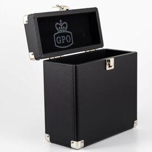 Černý kufřík na vinylové desky GPO Vinyl Case