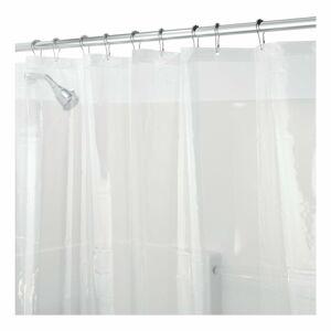 Průhledný sprchový závěs iDesign PEVA, 200x180cm