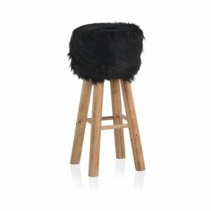 Stolička s černým sedákem Geese Round