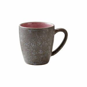 Šedo-růžový kameninový hrnek Bitz Mensa,190ml