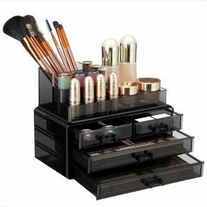 Černý akrylový organizér se 4 zásuvkami na šperky a kosmetiku Songmics