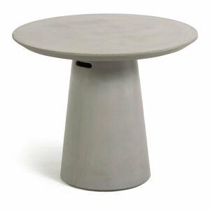 Betonový venkovní jídelní stůl La Forma Itai, ⌀ 90 cm