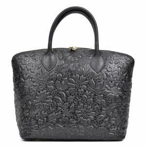 Černá zdobená kabelka Anna Luchini