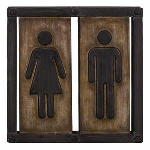 Závěsná cedule na toalety Antic Line, 21,5 x 21,5 cm