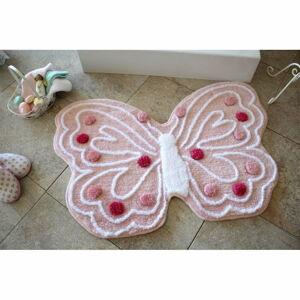 Koupelnová předložka Kelebek Pink, 70 x 120 cm