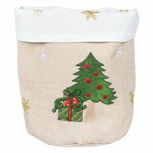 Béžový vánoční košík na pečivo Villa d'Este Xmas Tree