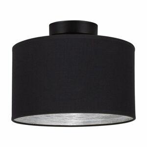 Černé stropní svítidlo s detailem ve stříbrné barvě Bulb Attack Tres S, ⌀ 25 cm