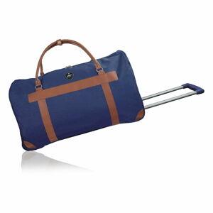 Modrá cestovní taška na kolečkách GENTLEMAN FARMER Oslo, 63 l