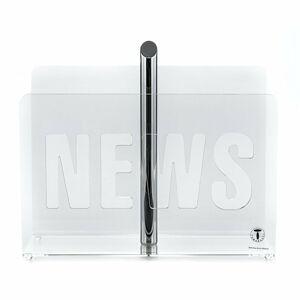Transparentní stojan na časopisy Tomasucci News Transparent