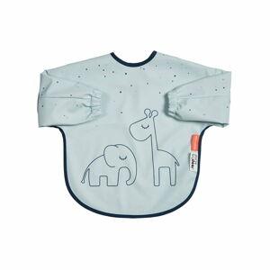 Modrý bryndák s rukávy Done by Deer Dreamy Dots,6-18měsíců
