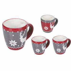 Sada 4 vánočních hrnečků z dolomitu Villa d'Este Chamonix,90ml