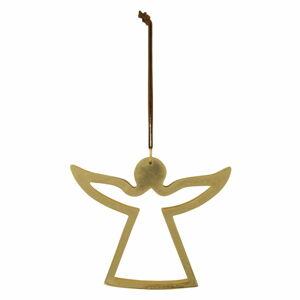Závěsná vánoční dekorace ve zlaté barvě Ego Dekor Angel