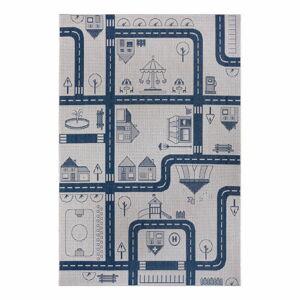Modrý dětský koberec Ragami City, 200 x 290 cm