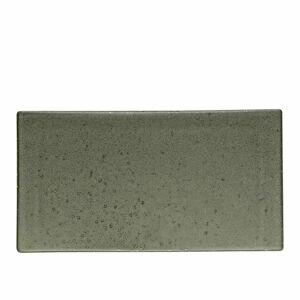 Zelenošedý kameninový servírovací tác Bitz Mensa, délka 30 cm