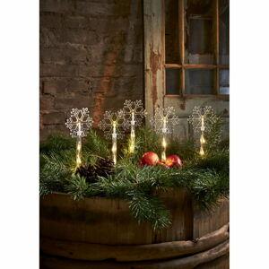 Vánoční venkovní světelná LED dekorace Star Trading Wandy Snowflake