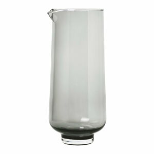 Černá skleněná karafa na vodu Blomus Flow,1,1l