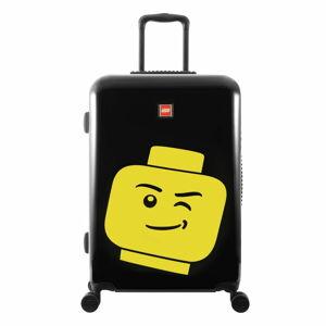 """Černý kufr na kolečkách LEGO® Luggage Minifigure Head 24"""""""
