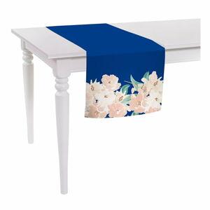 Modro-růžový běhoun na stůl Mike & Co. NEW YORK Honey Blossom,140x40cm