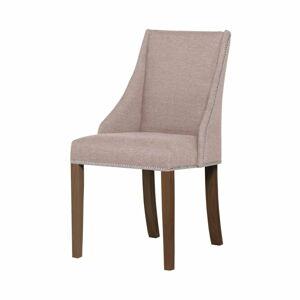 Pudrově růžová židle s tmavě hnědými nohami z bukového dřeva Ted Lapidus Maison Patchouli