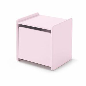 Růžový noční stolek Vipack Kiddy
