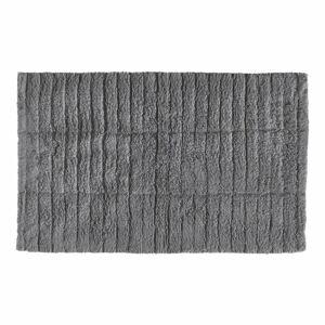 Šedá bavlněná koupelnová předložka Zone Tiles,80x50cm