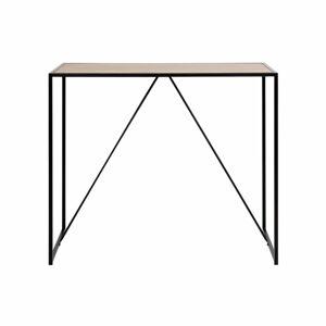 Černo-hnědý barový stolek Actona Seaford
