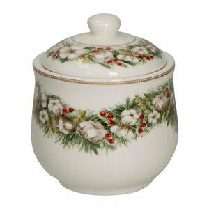 Porcelánová cukřenka s vánočním motivem Brandani Zuccheriera Batuffoli