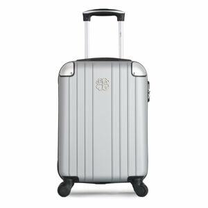 Šedé skořepinové zavazadlo na 4 kolečkách LPB Amelie, 31l