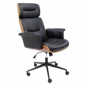 Černá kancelářská židle Kare Design Check Out