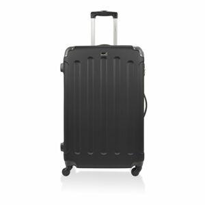 Černý cestovní kufr na kolečkách Bluestar,37l