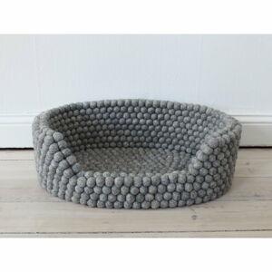 Ocelově šedý kuličkový vlněný pelíšek pro domácí zvířata Wooldot Ball Pet Basket, 80 x 60 cm