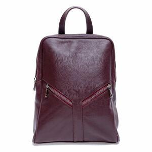 Červený kožený batoh Roberta M Linda