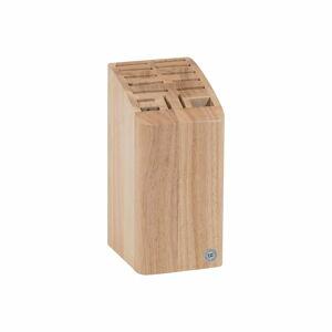 Blok z kaučukovníku na 12 nožů, sekáček a nůžky T&G Woodware Steel