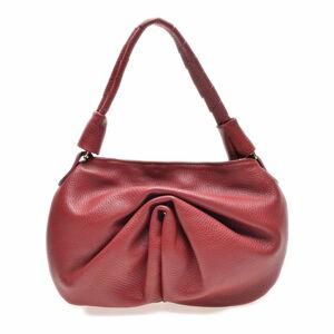 Červená kožená kabelka Roberta M