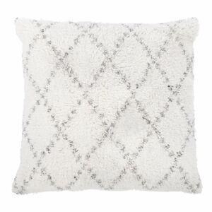 Bílo-šedý bavlněný dekorativní polštář Tiseco Home Studio Geometric,45x45cm