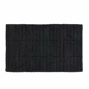 Černá bavlněná koupelnová předložka Zone Tiles, 50 x 80 cm
