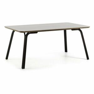 Šedý stůl La Forma Bernon, 180 x 100 cm