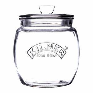 Skleněná zaoblená dóza s víkem Kilner, 0,85 l