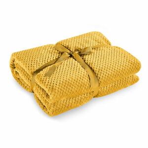 Hořčicově žlutá deka z mikrovlákna DecoKing Henry,70x150cm