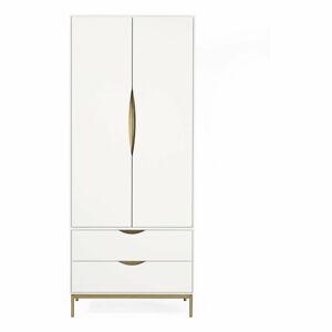 Bílá šatní skříň Woodman Kobe